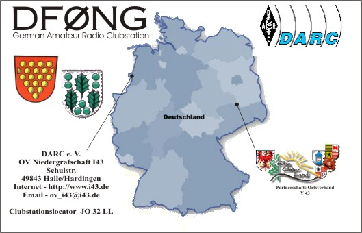 QSL-Karte der Clubstation DF0NG